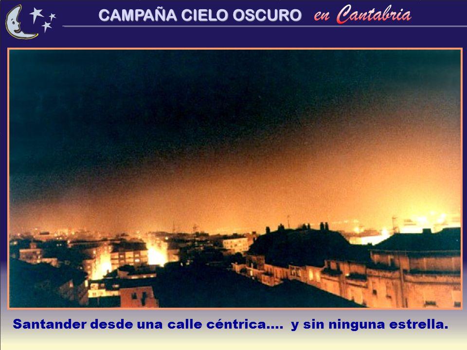 Santander desde una calle céntrica.... y sin ninguna estrella.