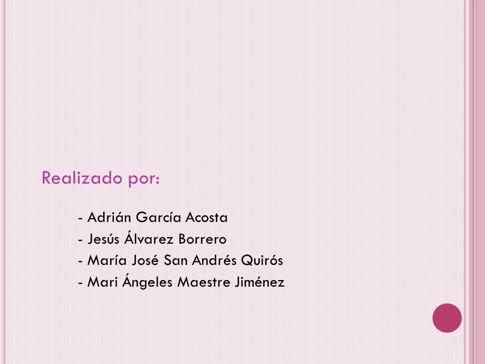 Realizado por: - Adrián García Acosta - Jesús Álvarez Borrero