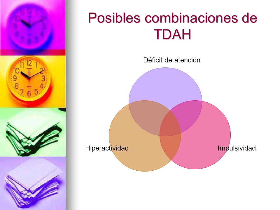 Posibles combinaciones de TDAH
