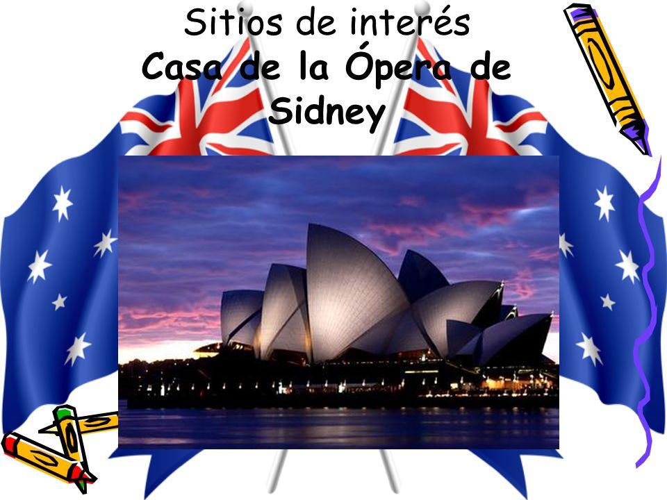 Sitios de interés Casa de la Ópera de Sidney