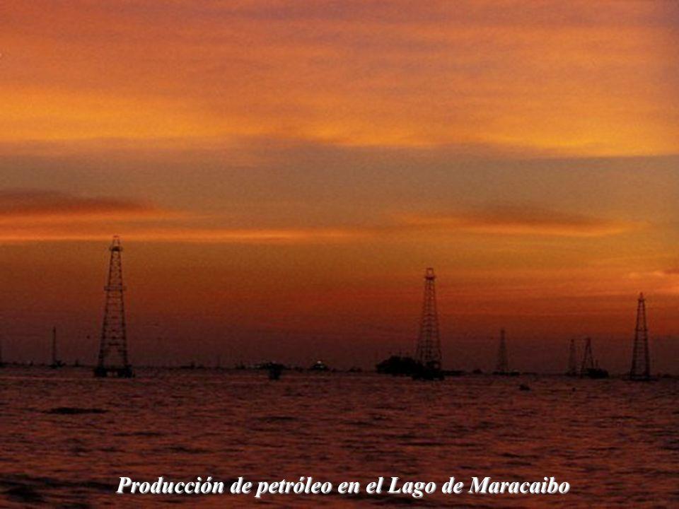Producción de petróleo en el Lago de Maracaibo