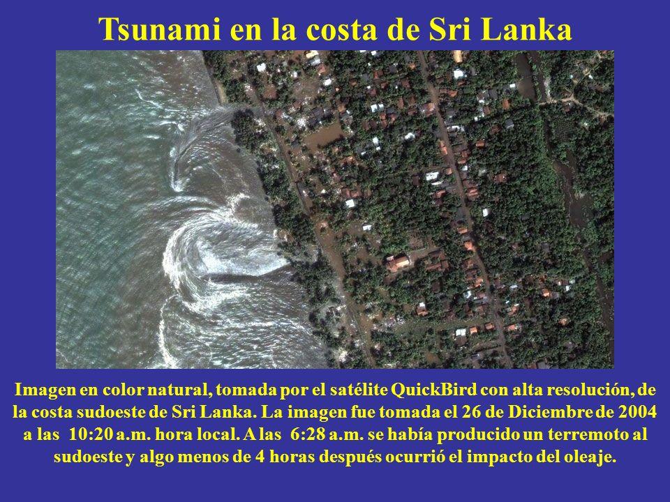 Tsunami en la costa de Sri Lanka
