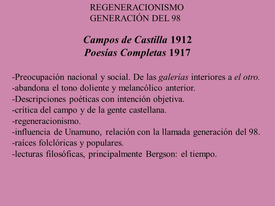 Campos de Castilla 1912 Poesías Completas 1917