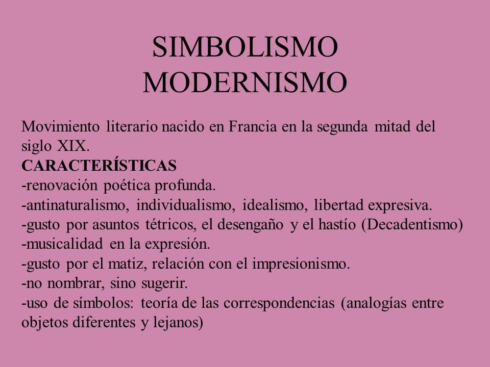 SIMBOLISMO MODERNISMO