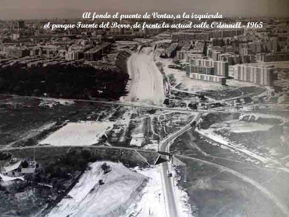 Al fondo el puente de Ventas, a la izquierda