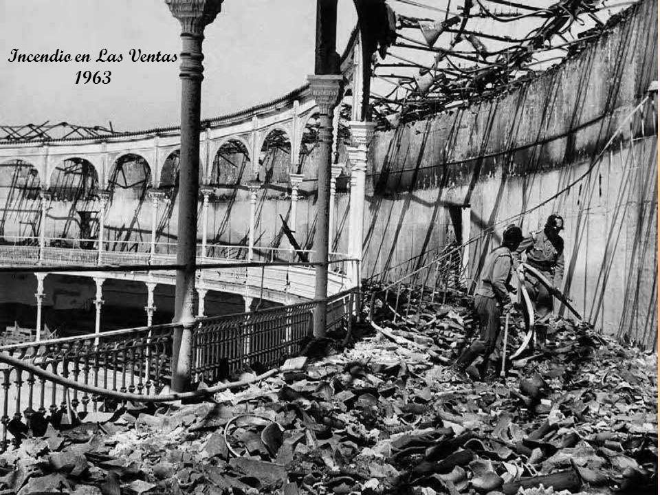 Incendio en Las Ventas 1963