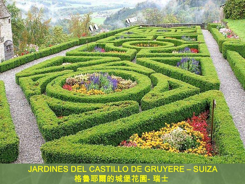 JARDINES DEL CASTILLO DE GRUYERE – SUIZA
