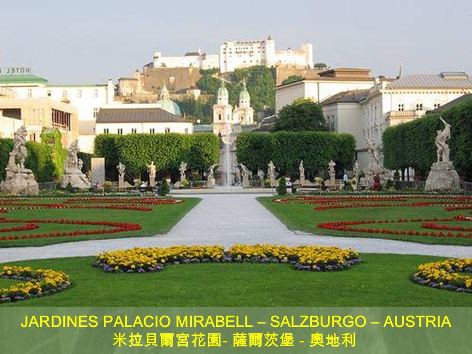 JARDINES PALACIO MIRABELL – SALZBURGO – AUSTRIA