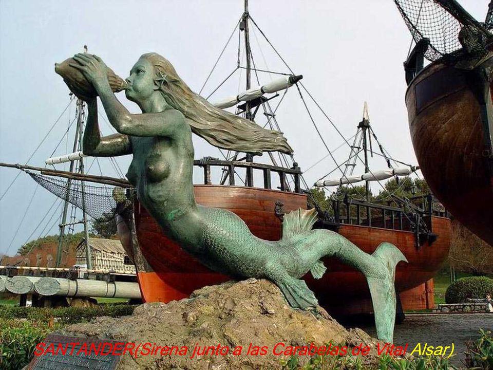 SANTANDER(Sirena junto a las Carabelas de Vital Alsar)