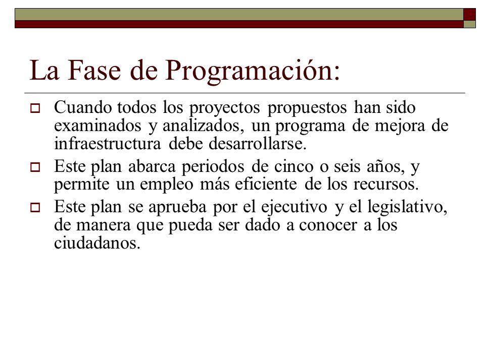 La Fase de Programación: