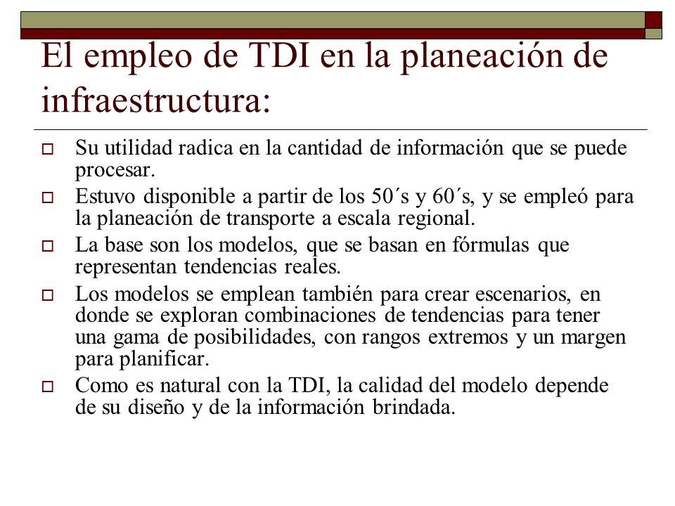 El empleo de TDI en la planeación de infraestructura: