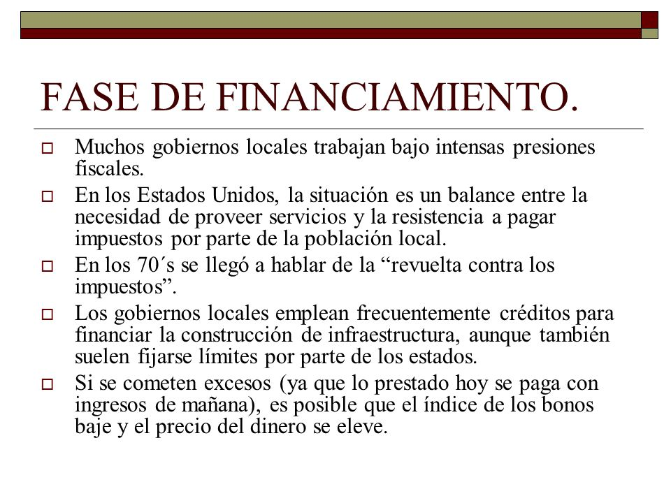 FASE DE FINANCIAMIENTO.