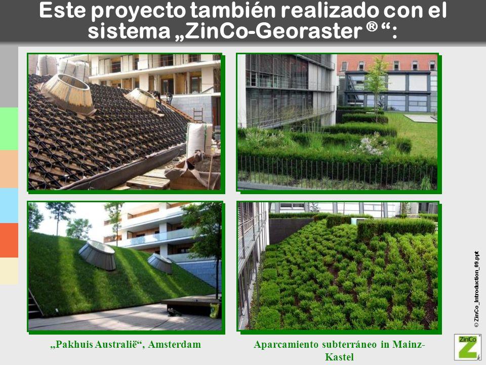 """Este proyecto también realizado con el sistema """"ZinCo-Georaster ® :"""