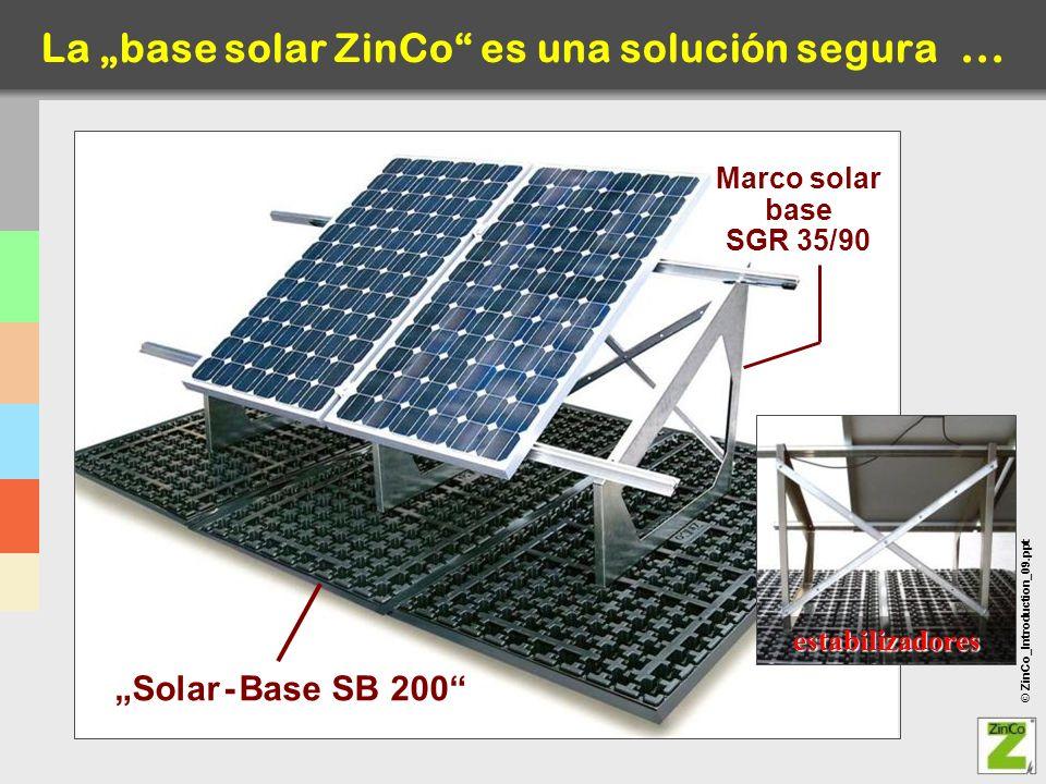 """La """"base solar ZinCo es una solución segura ..."""