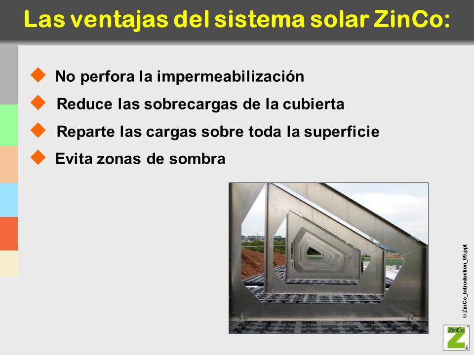 Las ventajas del sistema solar ZinCo: