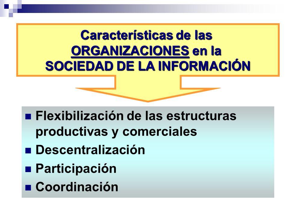 Características de las ORGANIZACIONES en la SOCIEDAD DE LA INFORMACIÓN