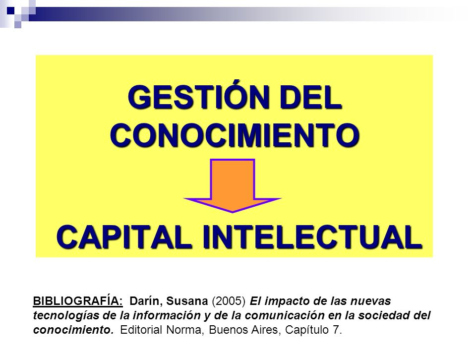 GESTIÓN DEL CONOCIMIENTO CAPITAL INTELECTUAL