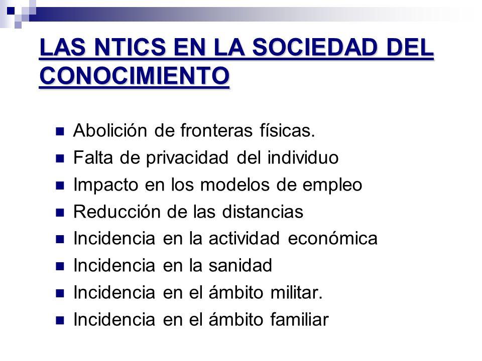 LAS NTICS EN LA SOCIEDAD DEL CONOCIMIENTO