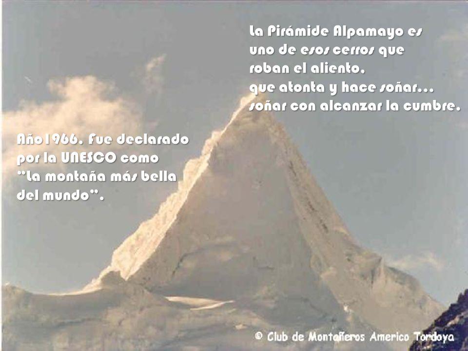 La Pirámide Alpamayo es