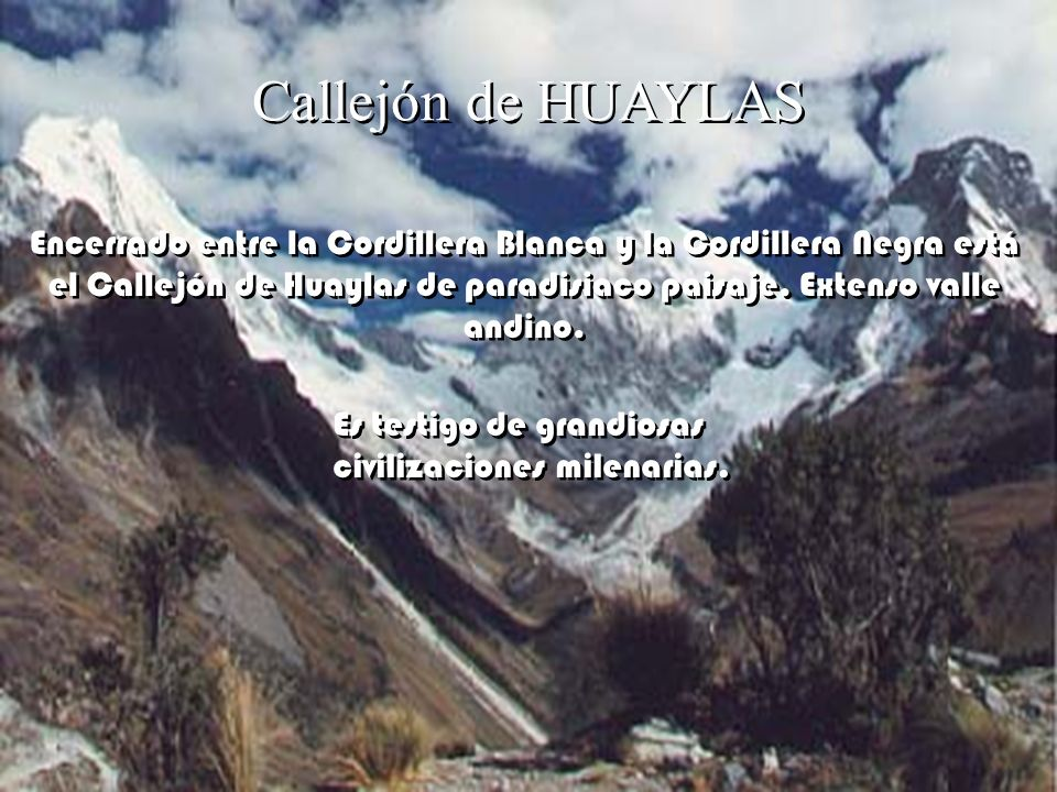 Callejón de HUAYLAS
