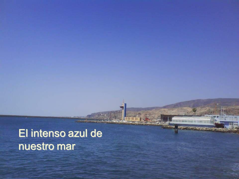 El intenso azul de nuestro mar