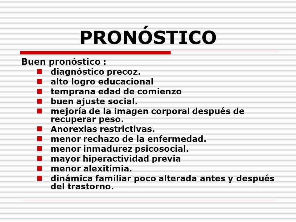 PRONÓSTICO Buen pronóstico : diagnóstico precoz.