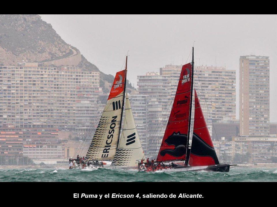 El Puma y el Ericson 4, saliendo de Alicante.
