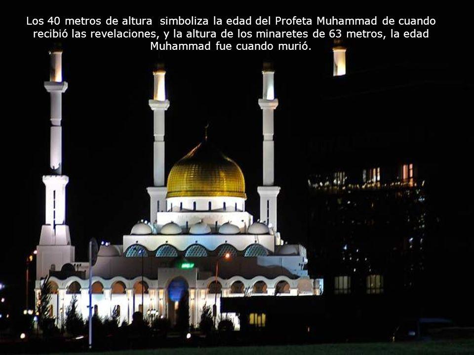 Los 40 metros de altura simboliza la edad del Profeta Muhammad de cuando recibió las revelaciones, y la altura de los minaretes de 63 metros, la edad Muhammad fue cuando murió.
