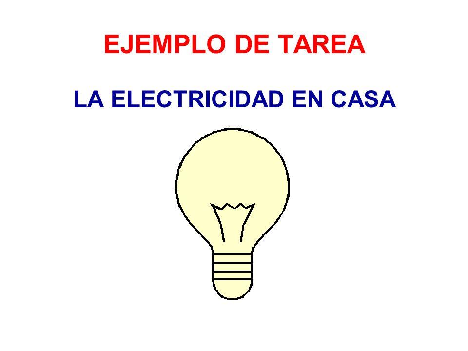 LA ELECTRICIDAD EN CASA
