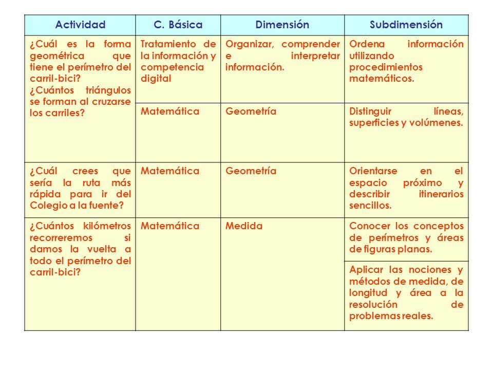 Actividad C. Básica Dimensión Subdimensión