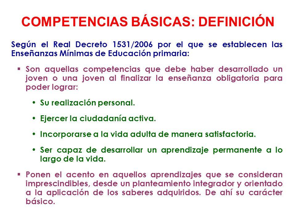 COMPETENCIAS BÁSICAS: DEFINICIÓN