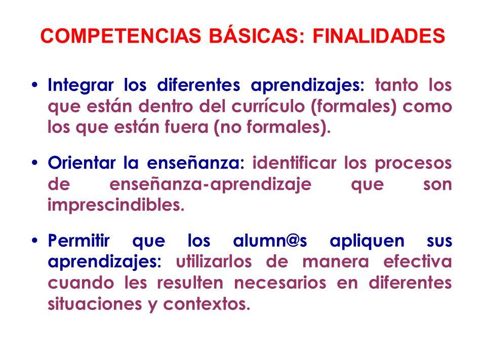 COMPETENCIAS BÁSICAS: FINALIDADES
