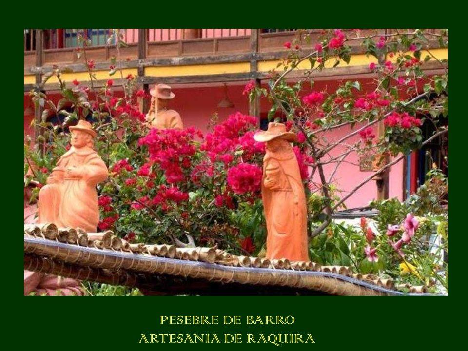 PESEBRE DE BARRO ARTESANIA DE RAQUIRA