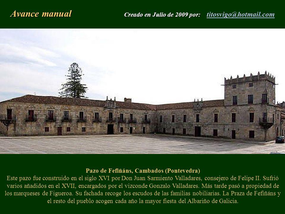Avance manual Creado en Julio de 2009 por: titosvigo@hotmail.com