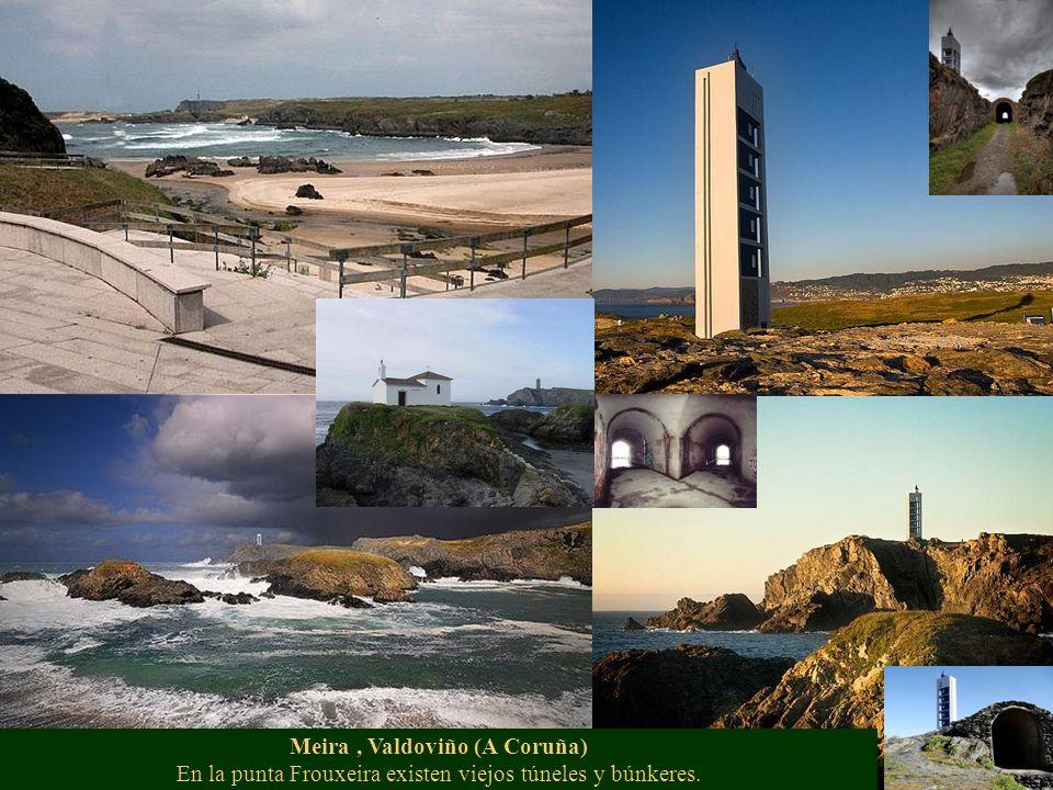 Meira , Valdoviño (A Coruña) En la punta Frouxeira existen viejos túneles y búnkeres.