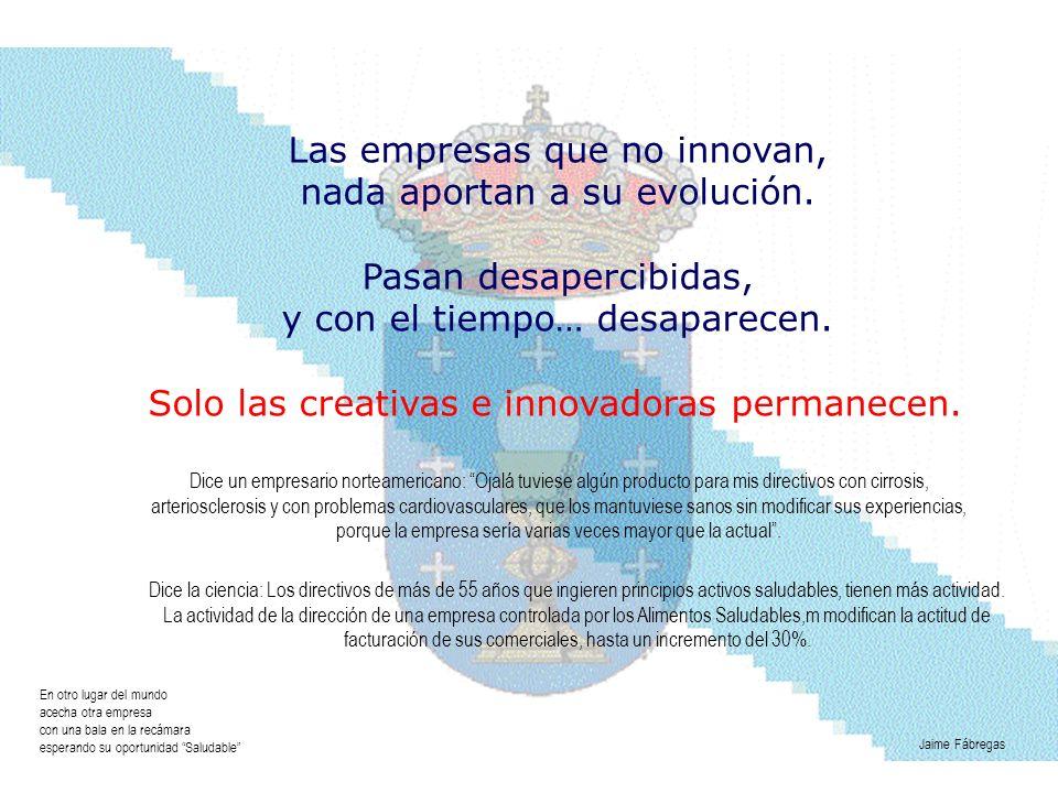 Las empresas que no innovan, nada aportan a su evolución.