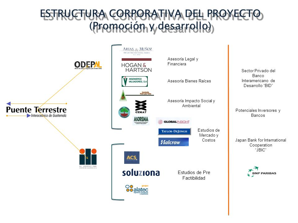 ESTRUCTURA CORPORATIVA DEL PROYECTO (Promoción y desarrollo)