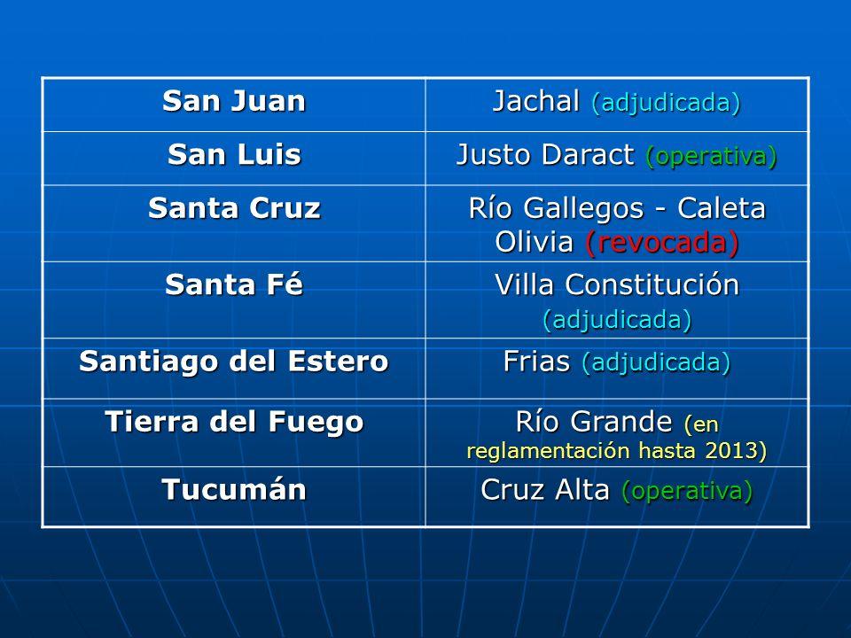 Justo Daract (operativa) Santa Cruz