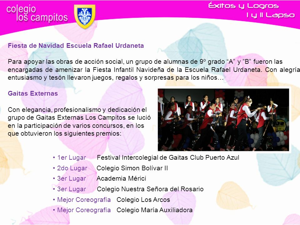 Fiesta de Navidad Escuela Rafael Urdaneta