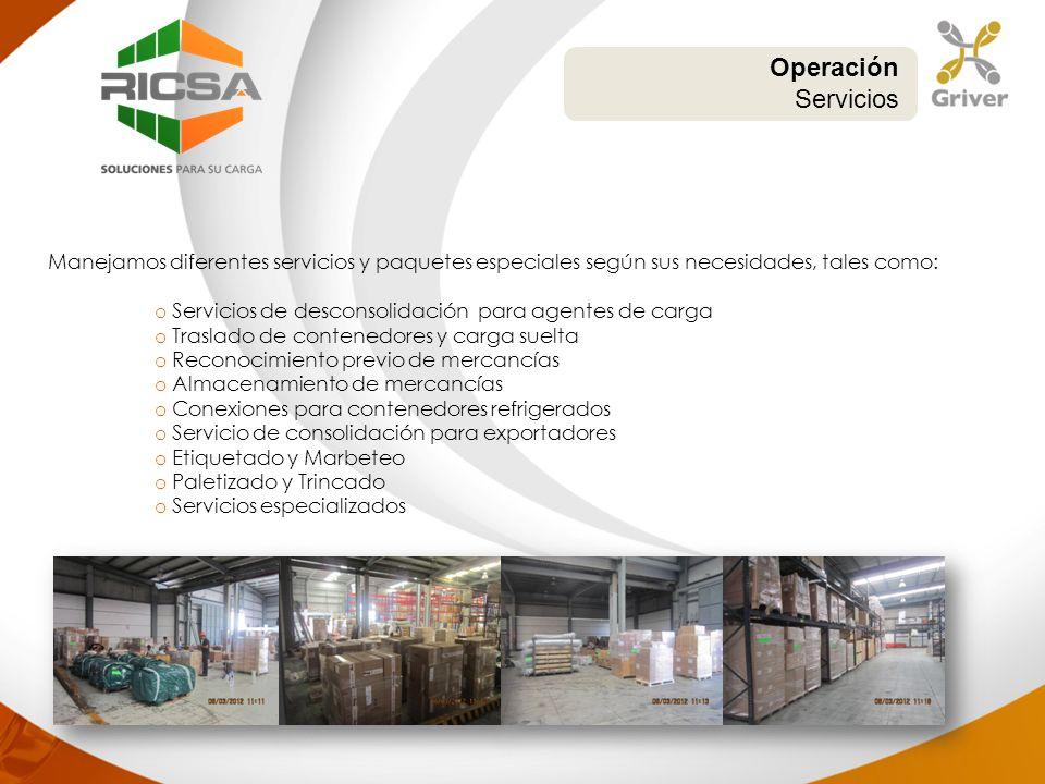 Operación Servicios. Manejamos diferentes servicios y paquetes especiales según sus necesidades, tales como: