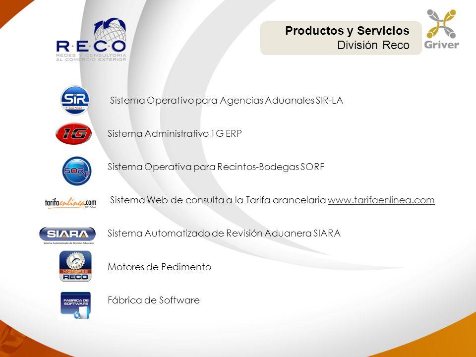 Productos y Servicios División Reco