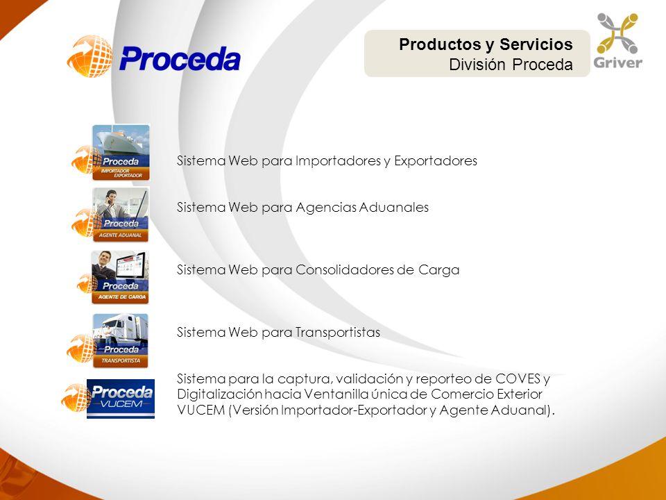 Productos y Servicios División Proceda