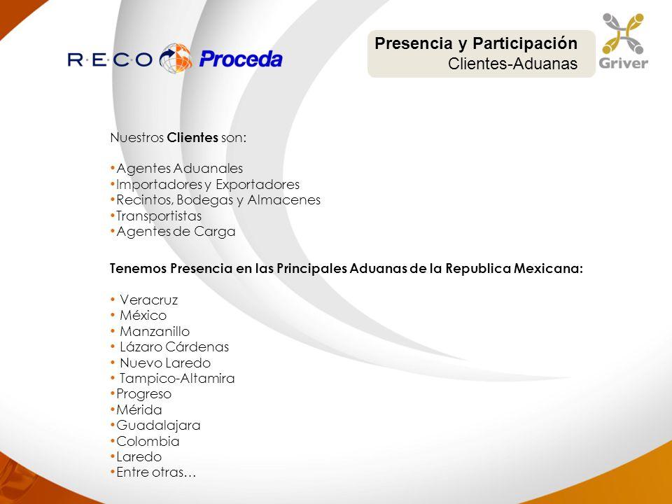 Presencia y Participación Clientes-Aduanas
