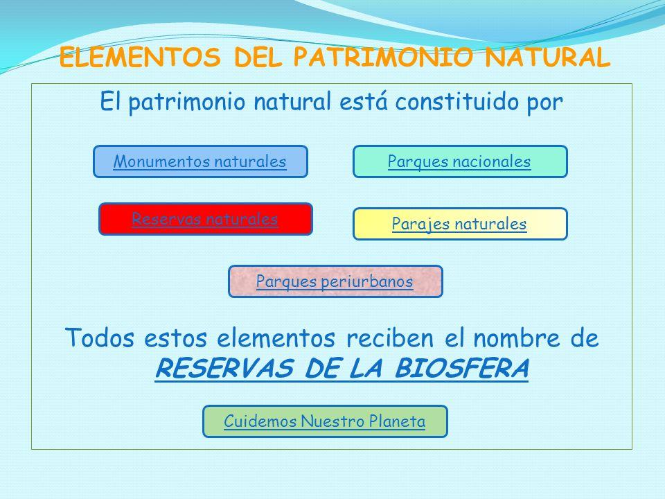 ELEMENTOS DEL PATRIMONIO NATURAL