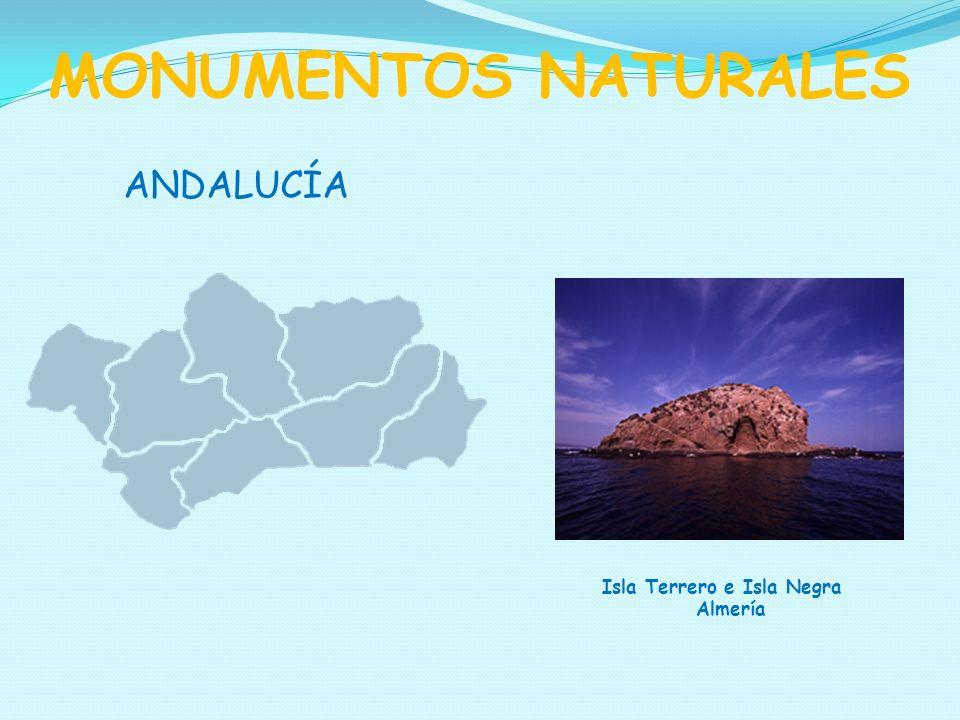 MONUMENTOS NATURALES ANDALUCÍA Isla Terrero e Isla Negra Almería