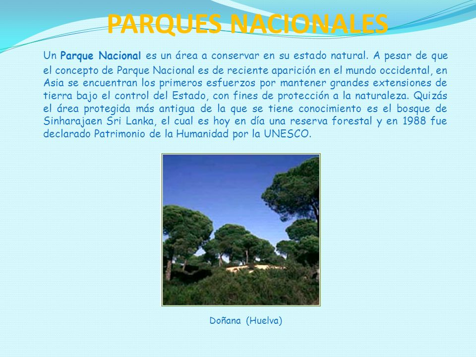 PARQUES NACIONALES