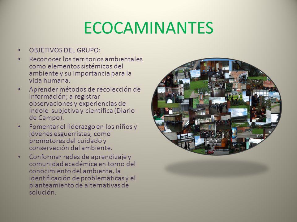 ECOCAMINANTES OBJETIVOS DEL GRUPO: