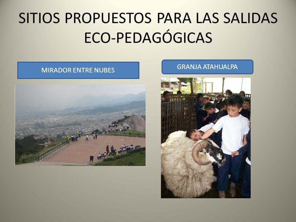 SITIOS PROPUESTOS PARA LAS SALIDAS ECO-PEDAGÓGICAS