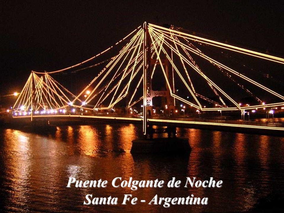 Puente Colgante de Noche Santa Fe - Argentina