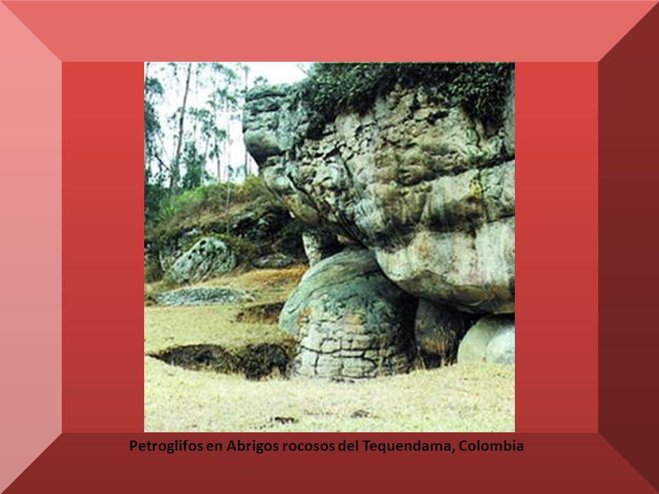 Petroglifos en Abrigos rocosos del Tequendama, Colombia